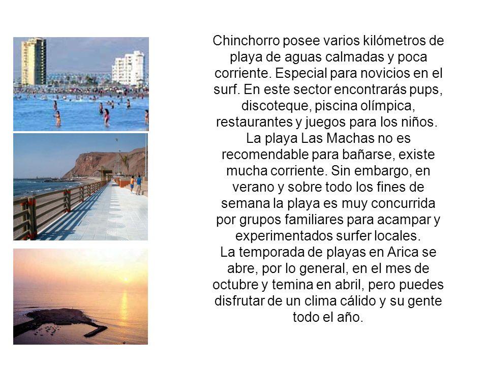 Chinchorro posee varios kilómetros de playa de aguas calmadas y poca corriente.