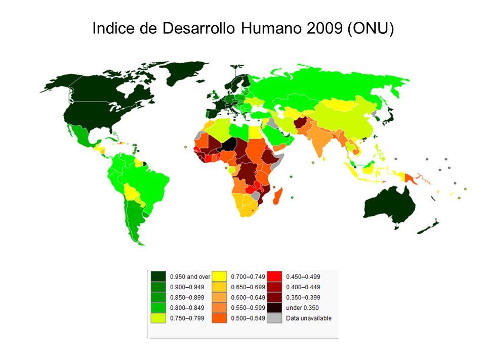 Indice de Desarrollo Humano 2009 (ONU)