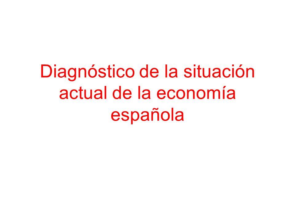 Diagnóstico de la situación actual de la economía española