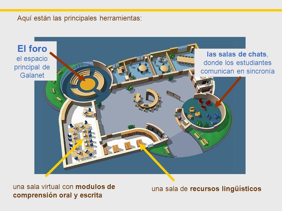 Existe también un espacio donde se puede conseguir información acerca de los participantes: