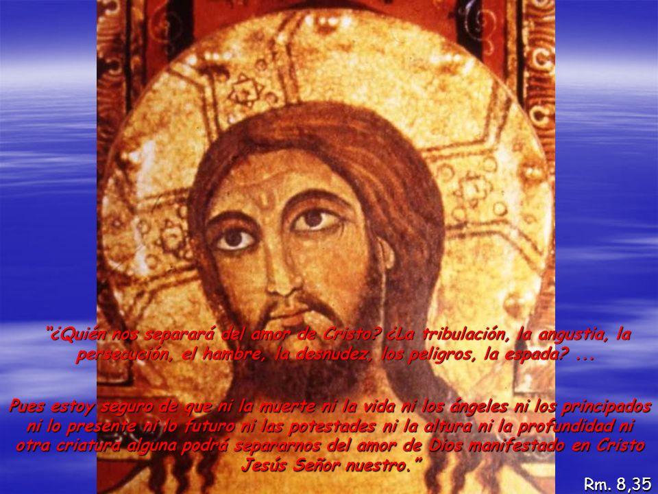 ¿Quién nos separará del amor de Cristo? ¿La tribulación, la angustia, la persecución, el hambre, la desnudez, los peligros, la espada?... Pues estoy s