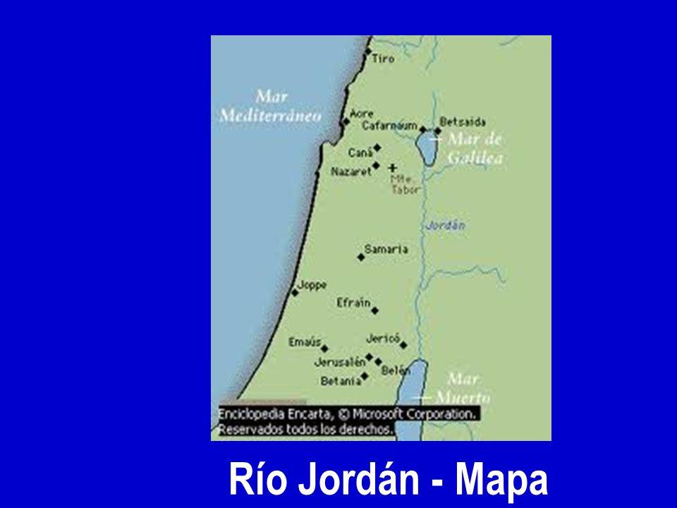 Río Jordán - Mapa