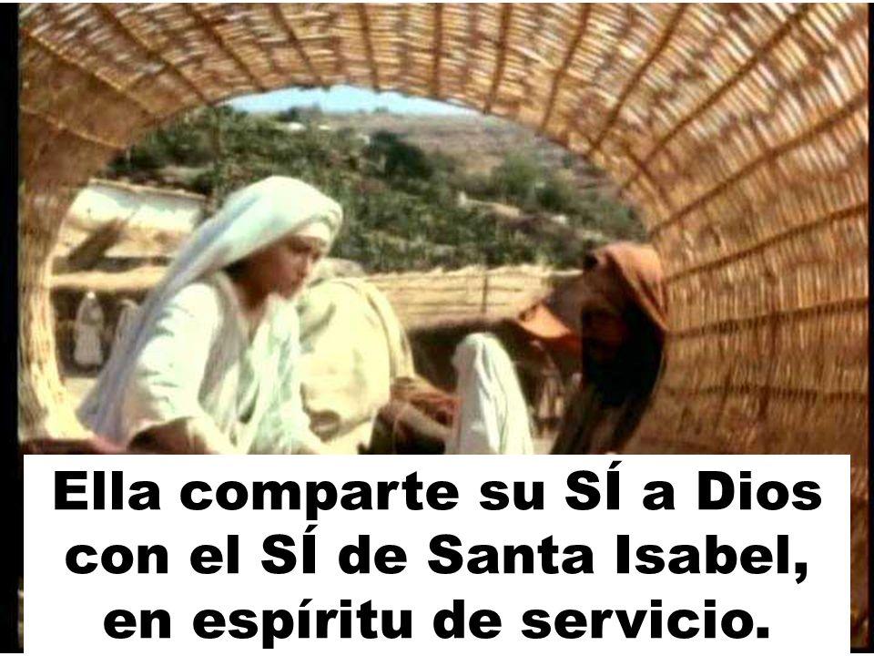 Ella comparte su SÍ a Dios con el SÍ de Santa Isabel, en espíritu de servicio.