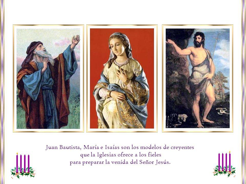 Juan Bautista, María e Isaías son los modelos de creyentes que la Iglesias ofrece a los fieles para preparar la venida del Señor Jesús.