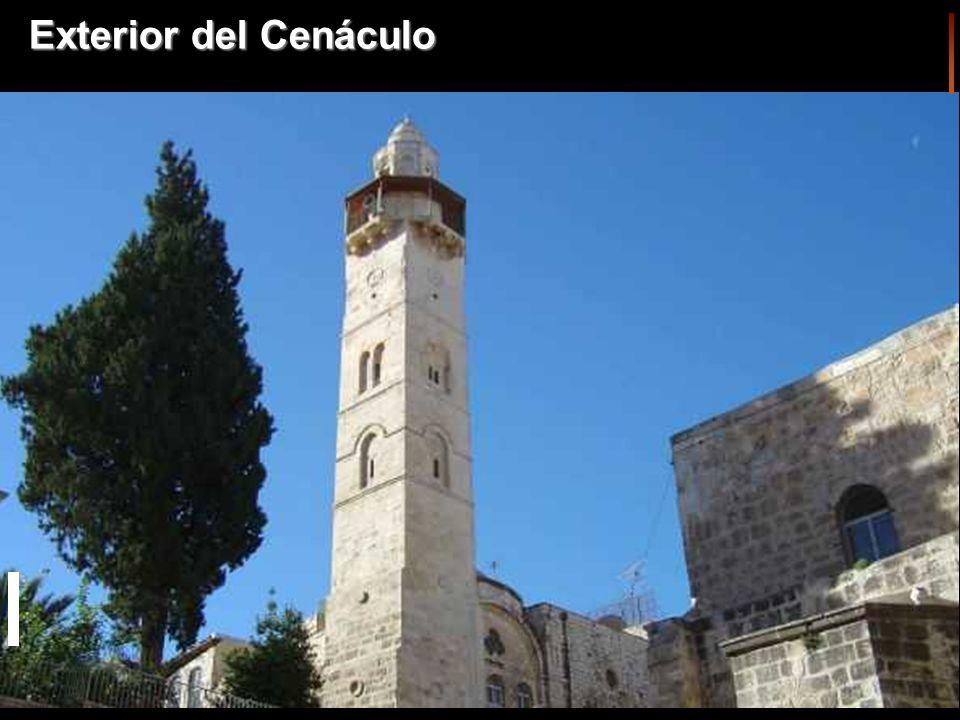 En el Cenáculo estaban reunidos los apóstoles después de la Resurrección de Jesús. cenáculo