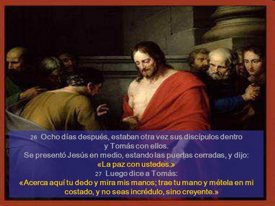 A los ocho días, llegó Jesús