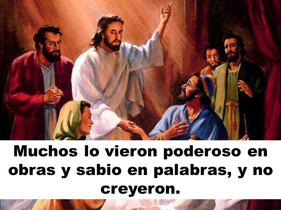 En cambio Jesús compar- tió el pan con muchos, pero no creyeron