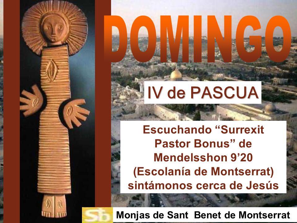 IV de PASCUA Monjas de Sant Benet de Montserrat Escuchando Surrexit Pastor Bonus de Mendelsshon 920 (Escolanía de Montserrat) sintámonos cerca de Jesús