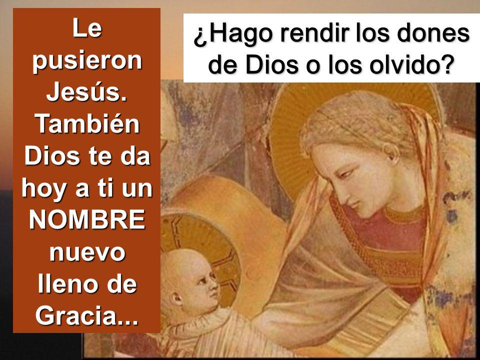 Cuando se cumplieron los ocho días para circuncidarle, le pusieron por nombre Jesús, el nombre dado por el ángel antes de que Él fuera concebido en el seno materno.