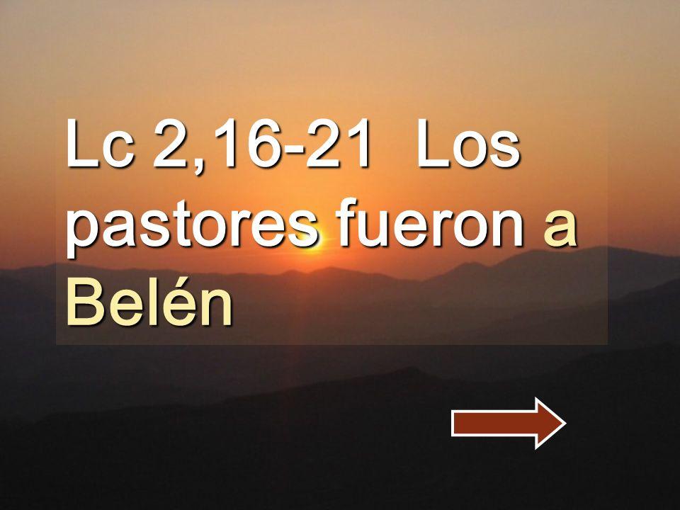 Lc 2,16-21 Los pastores fueron a Belén