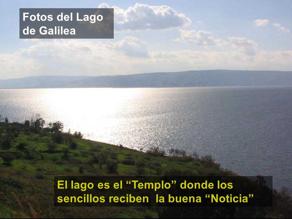 Fotos del Lago de Galilea El lago es el Templo donde los sencillos reciben la buena Noticia