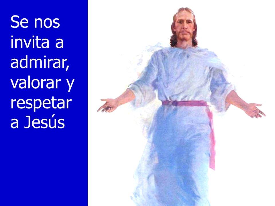 Se nos invita a admirar, valorar y respetar a Jesús