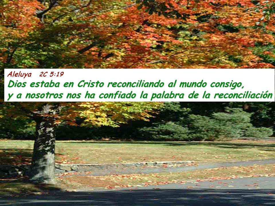 Aleluya 2C 5:19 Dios estaba en Cristo reconciliando al mundo consigo, y a nosotros nos ha confiado la palabra de la reconciliación