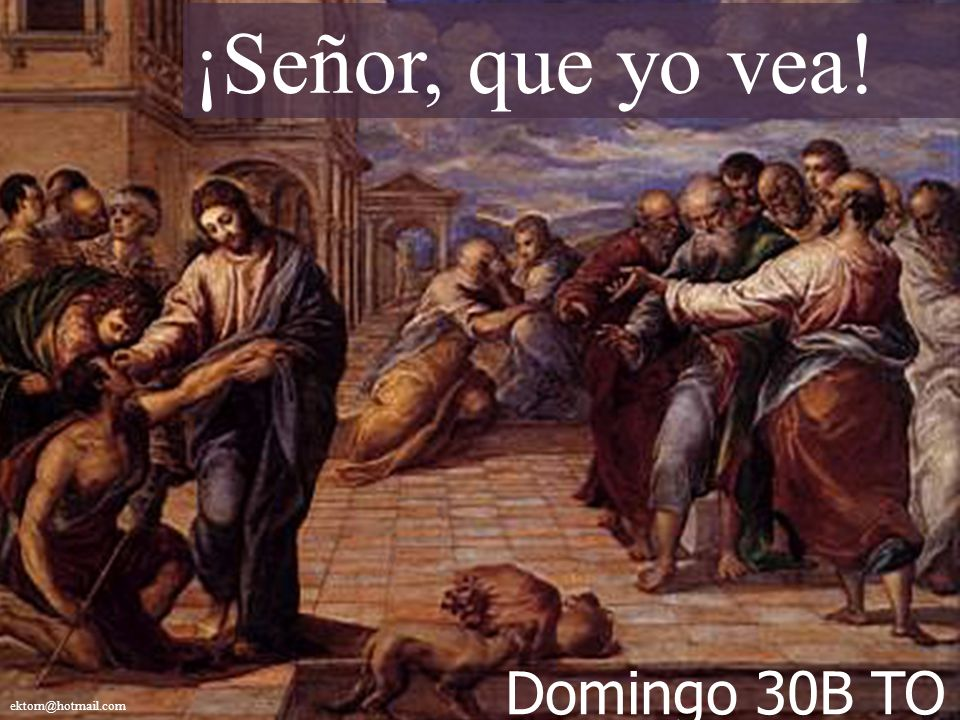 ¡Señor, que yo vea! ektorn@hotmail.com Domingo 30B TO