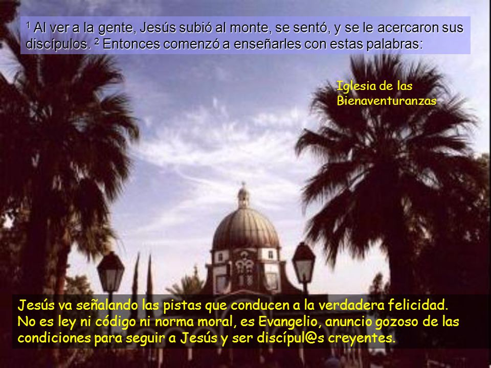 La santidad es nuestra meta. Mateo 5, 1-12a Solemnidad de Tod@s los Sant@s