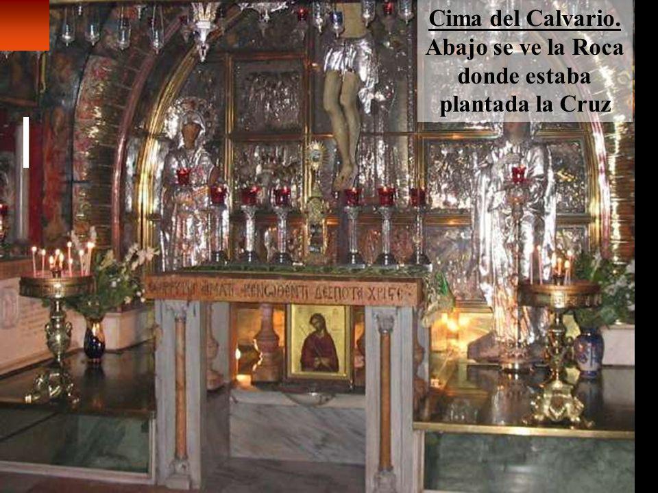 Lugar de la muerte de Jesús (a la derecha, abajo, roca del Calvario) Permanezcan en mi amor