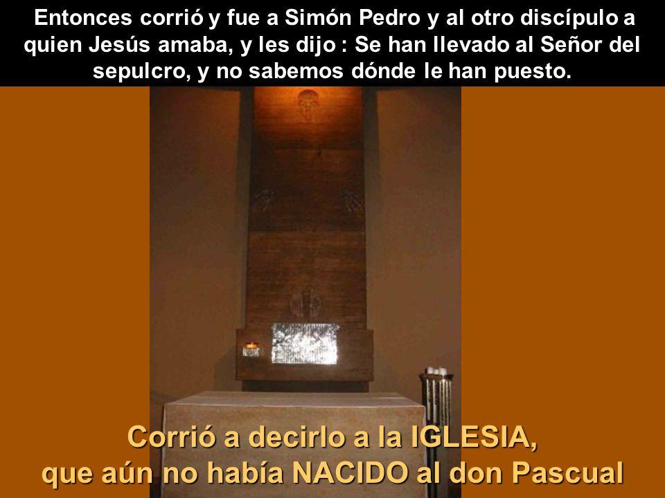 Entonces corrió y fue a Simón Pedro y al otro discípulo a quien Jesús amaba, y les dijo : Se han llevado al Señor del sepulcro, y no sabemos dónde le han puesto.
