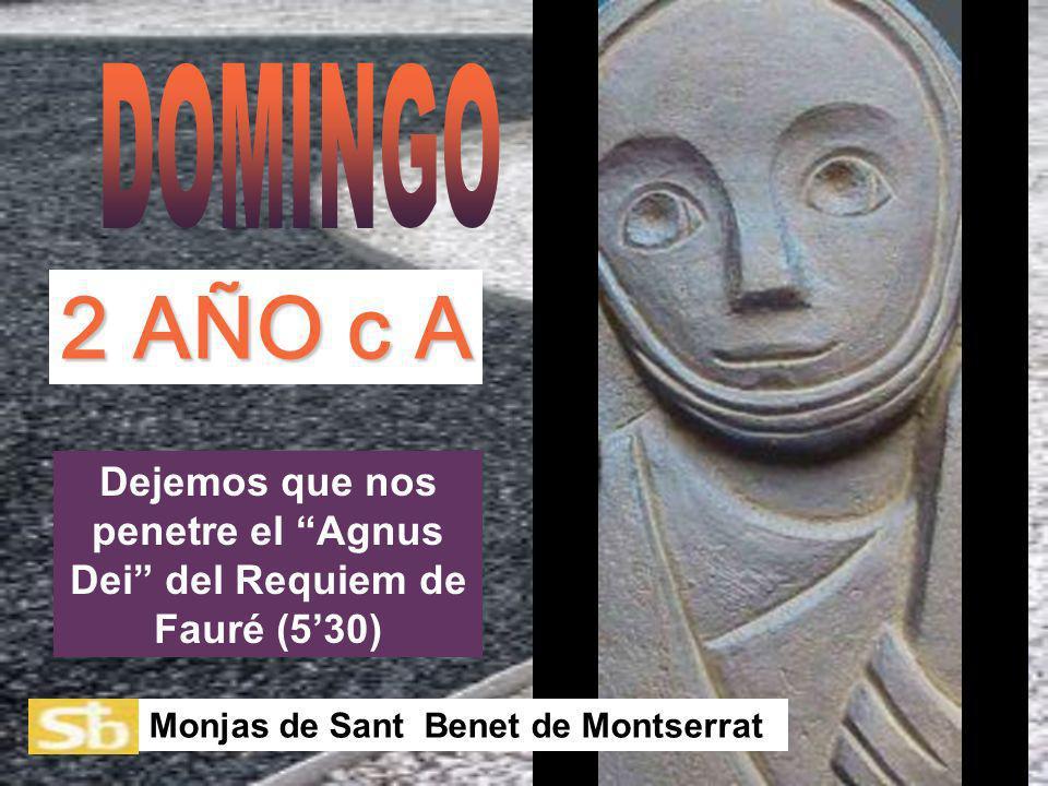 Dejemos que nos penetre el Agnus Dei del Requiem de Fauré (530) Monjas de Sant Benet de Montserrat 2 AÑO c A