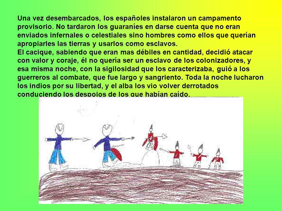 Antes que los españoles pisaran las tierras que baña el Paraná, vivía allí la tribu de los guaraníes. Estos eran comandados por un cacique cuya hija ú