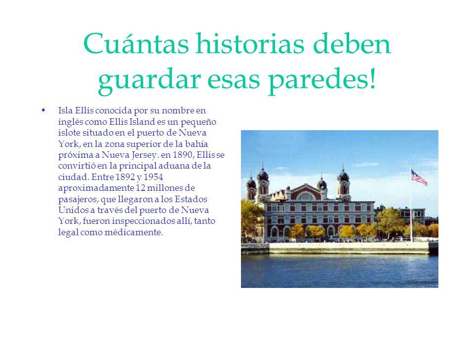 Cuántas historias deben guardar esas paredes! Isla Ellis conocida por su nombre en inglés como Ellis Island es un pequeño islote situado en el puerto