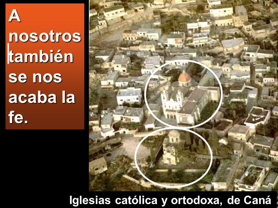 A nosotros también se nos acaba la fe. Iglesias católica y ortodoxa, de Caná
