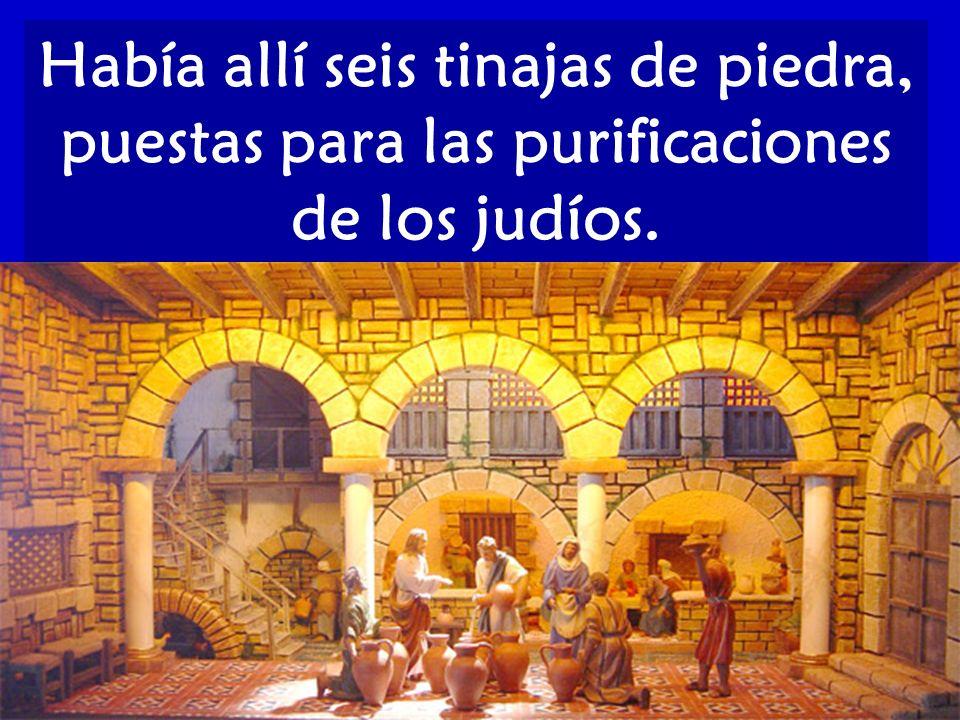 Había allí seis tinajas de piedra, puestas para las purificaciones de los judíos.