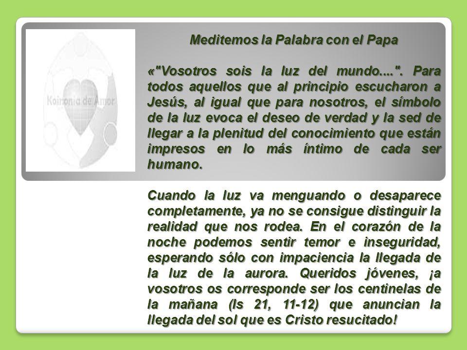 Meditemos la Palabra con el Papa «