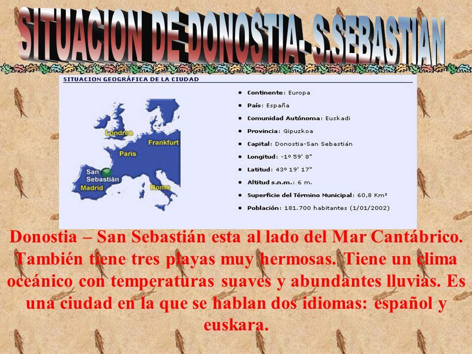 En esta panorámica se ve la mayor parte de San Sebastián, está la isla Santa Clara, la playa de La Concha, la playa Ondarreta...