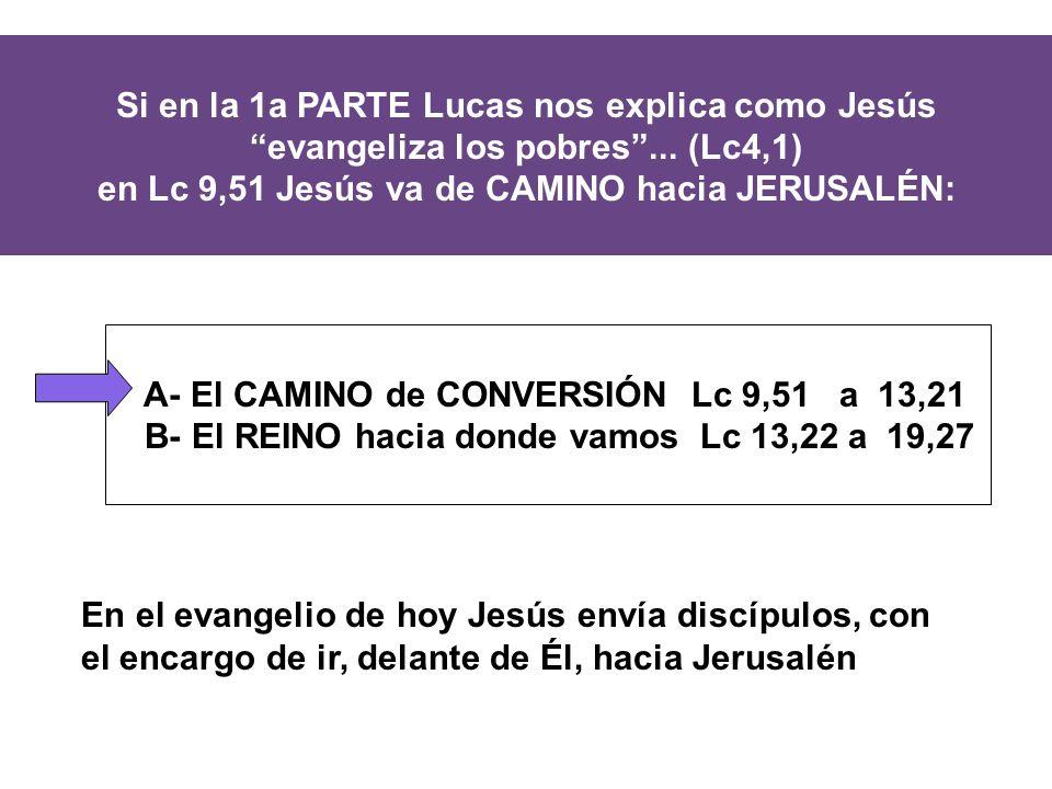 Si en la 1a PARTE Lucas nos explica como Jesús evangeliza los pobres...
