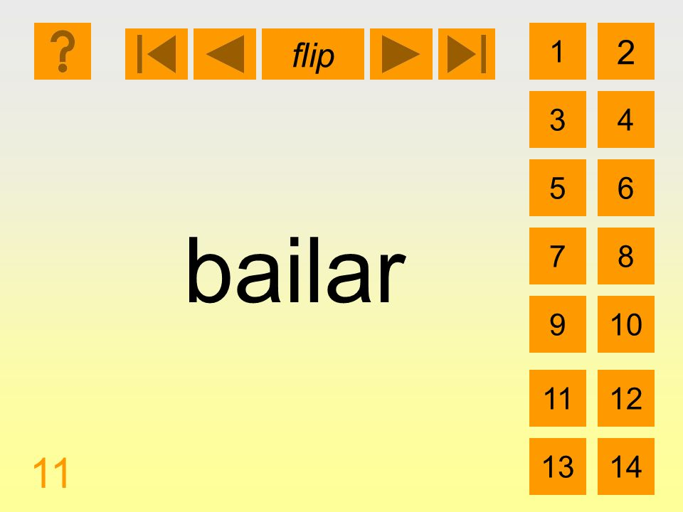 1 3 2 4 5 7 6 8 910 1112 1314 flip 11 bailar