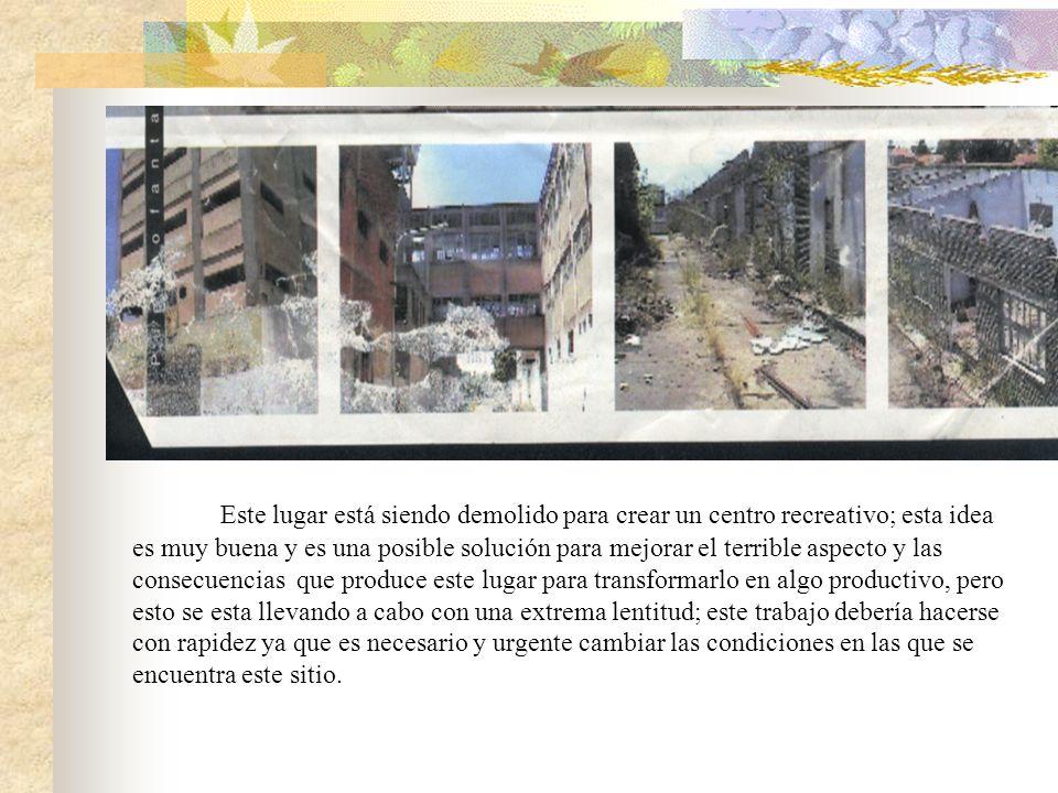 FABRICAS ABANDONADAS El más significativo y terrible ejemplo de las fábricas en desuso en nuesta ciudad es el frigorífico Monte Grande. Hubo una época