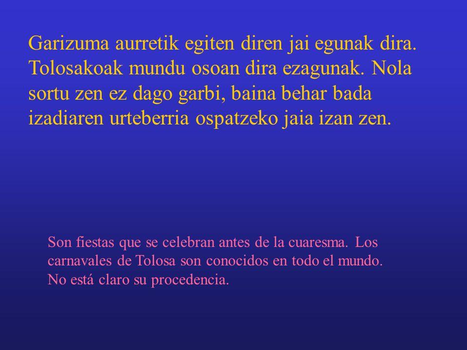 TOLOSAKO IÑAUTERIAK CARNAVALES DE TOLOSA HIRUKIDE. 3.D.