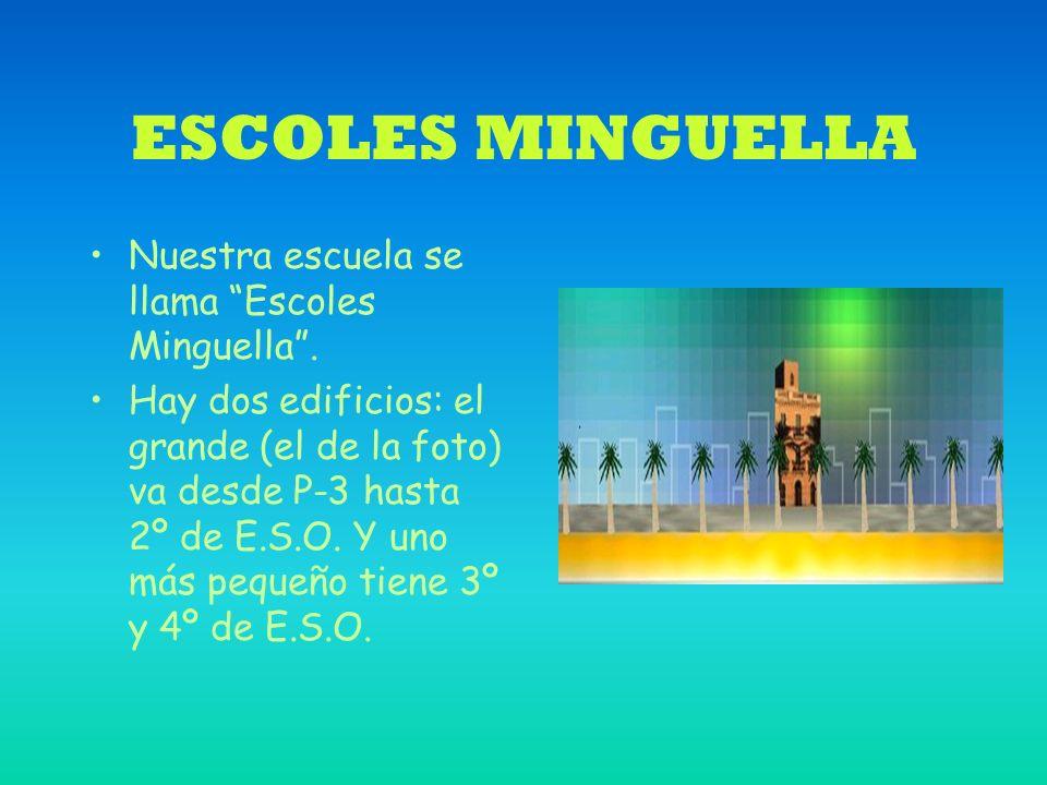 ESCOLES MINGUELLA Nuestra escuela se llama Escoles Minguella.