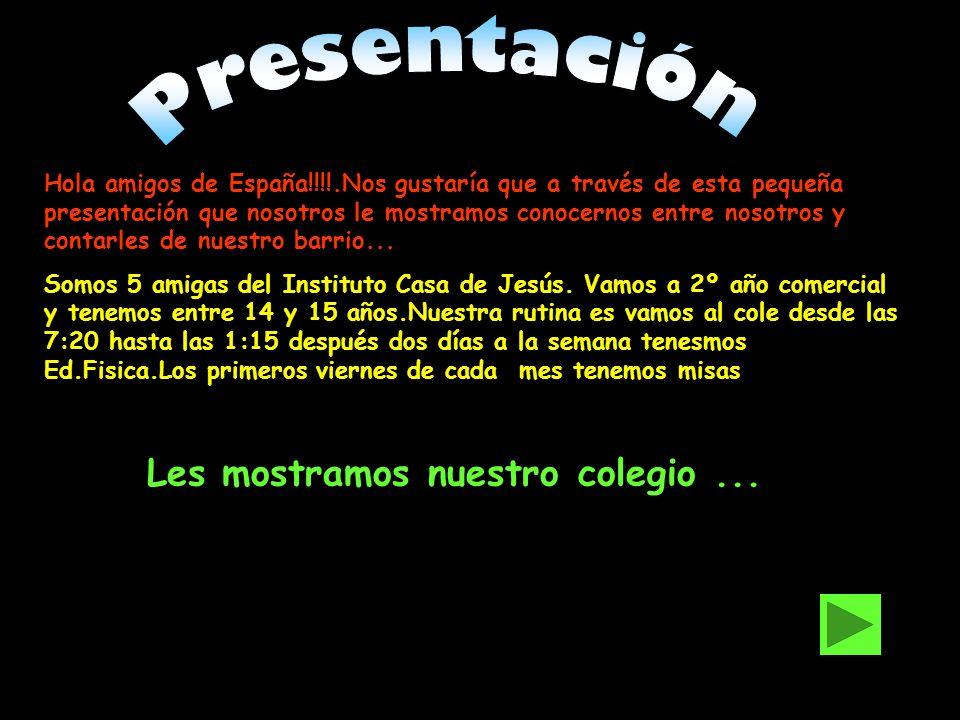 Hola amigos de España!!!!.Nos gustaría que a través de esta pequeña presentación que nosotros le mostramos conocernos entre nosotros y contarles de nu