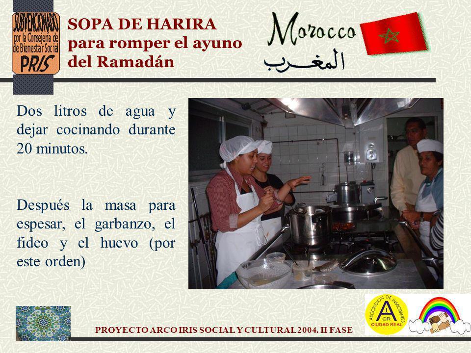 PROYECTO ARCO IRIS SOCIAL Y CULTURAL 2004.