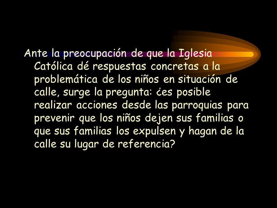 Ante la preocupación de que la Iglesia Católica dé respuestas concretas a la problemática de los niños en situación de calle, surge la pregunta: ¿es p