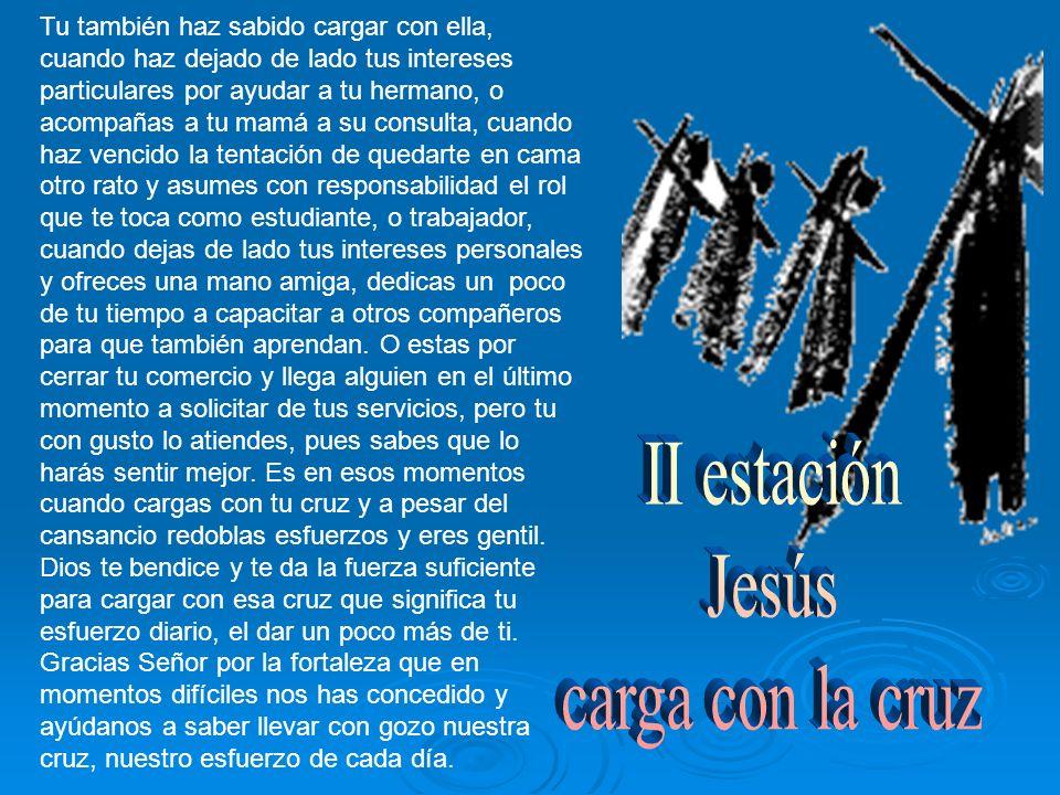 Jesús cae por debilidad, por falta de alimento y por el brutal maltrato que ha recibido.