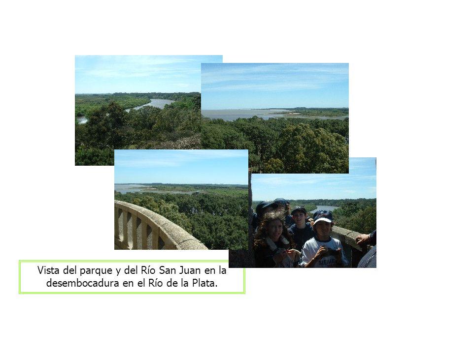 Vista del parque y del Río San Juan en la desembocadura en el Río de la Plata.