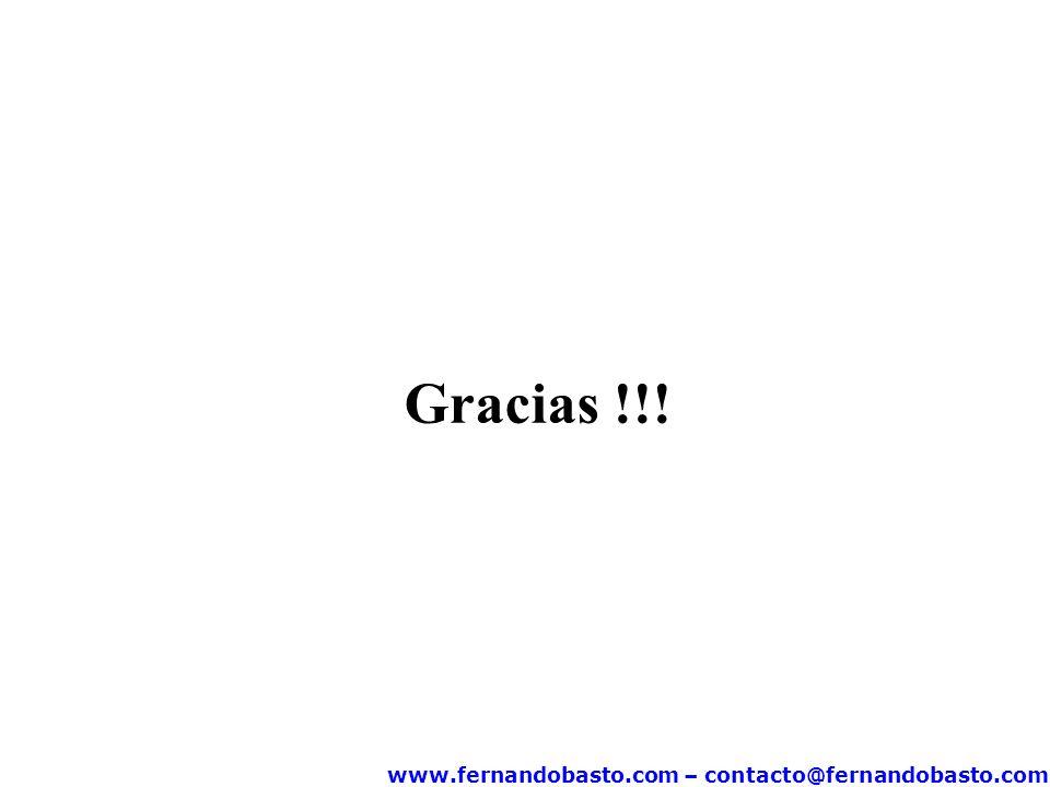 www.fernandobasto.com – contacto@fernandobasto.com Gracias !!!