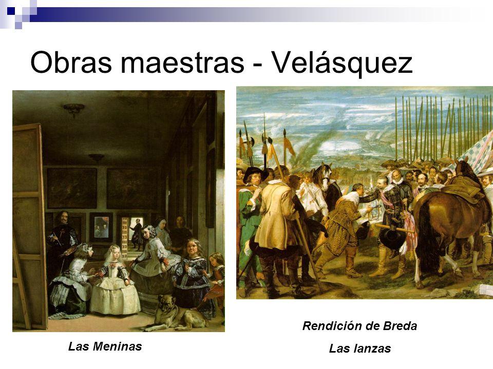 Obras maestras - Velásquez Las Meninas Rendición de Breda Las lanzas
