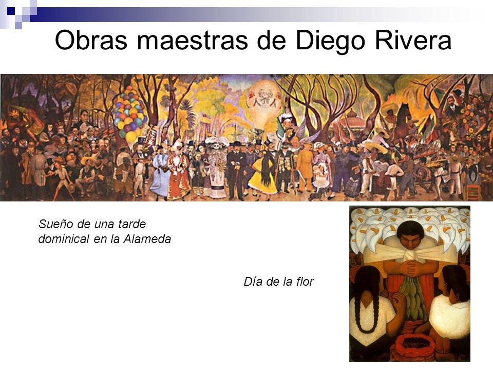 Obras maestras de Diego Rivera Sueño de una tarde dominical en la Alameda Día de la flor