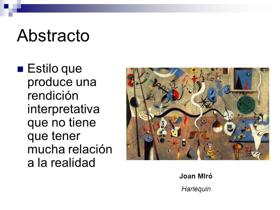 Cubismo Pintores cubistas usan formas geométricas para representar todas las facetas de su sujeto.