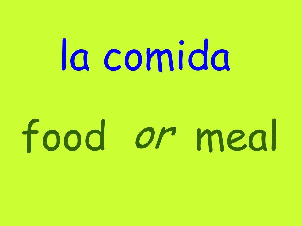 la comida foodmeal or
