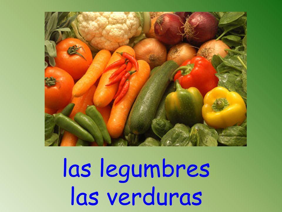 las legumbres las verduras