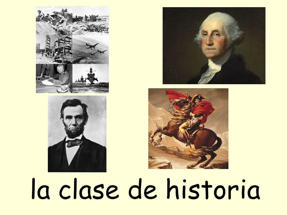 la clase de historia
