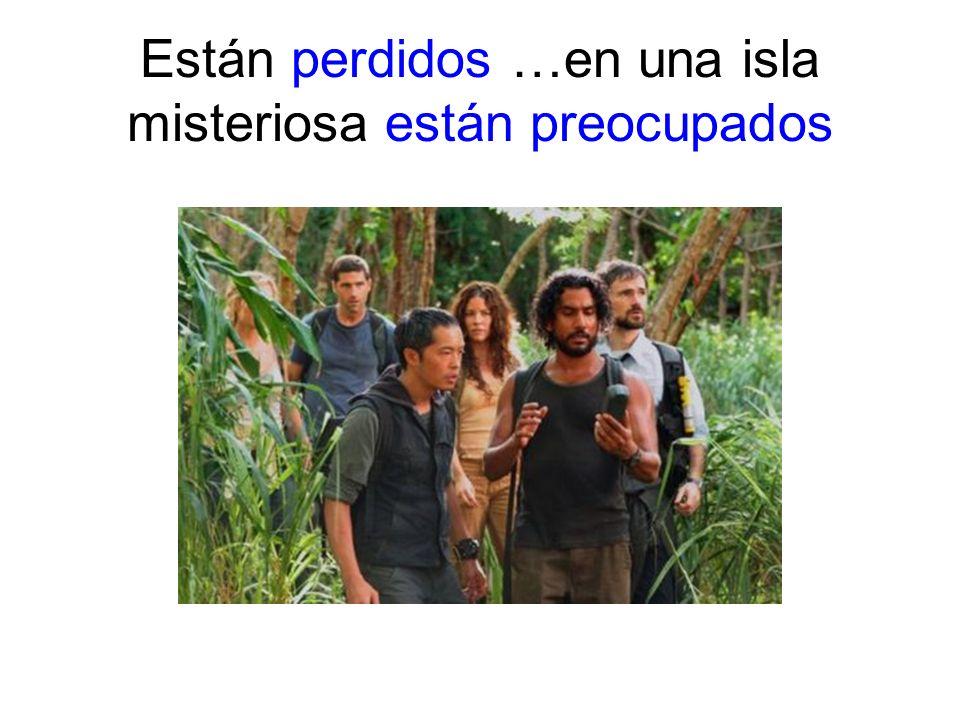 Están perdidos …en una isla misteriosa están preocupados