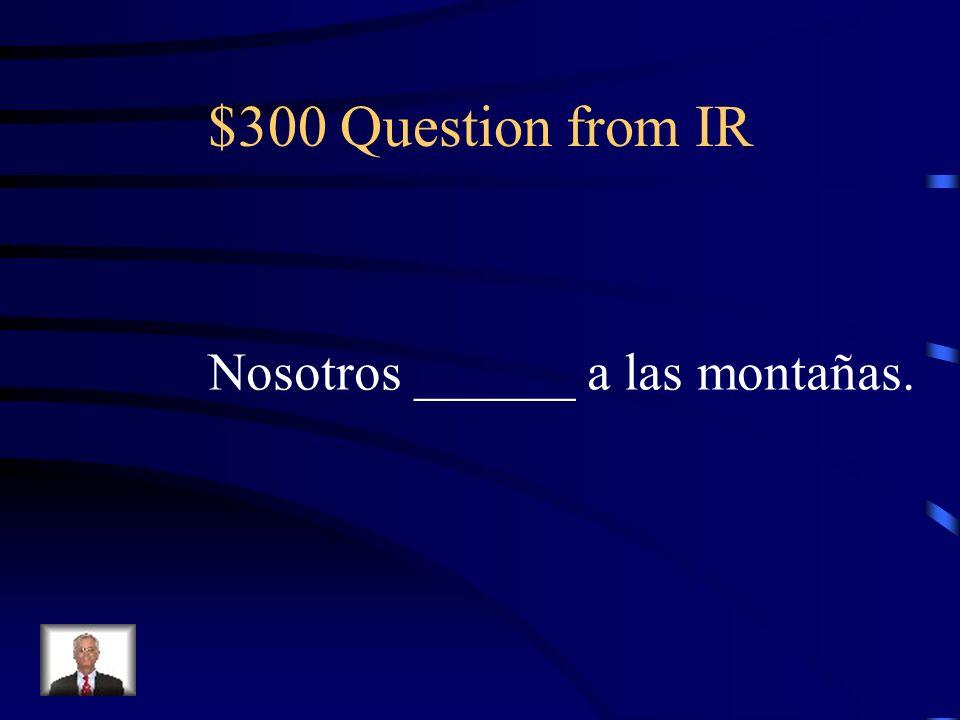$200 Answer from IR Ellos van a la ciudad de Atlanta.