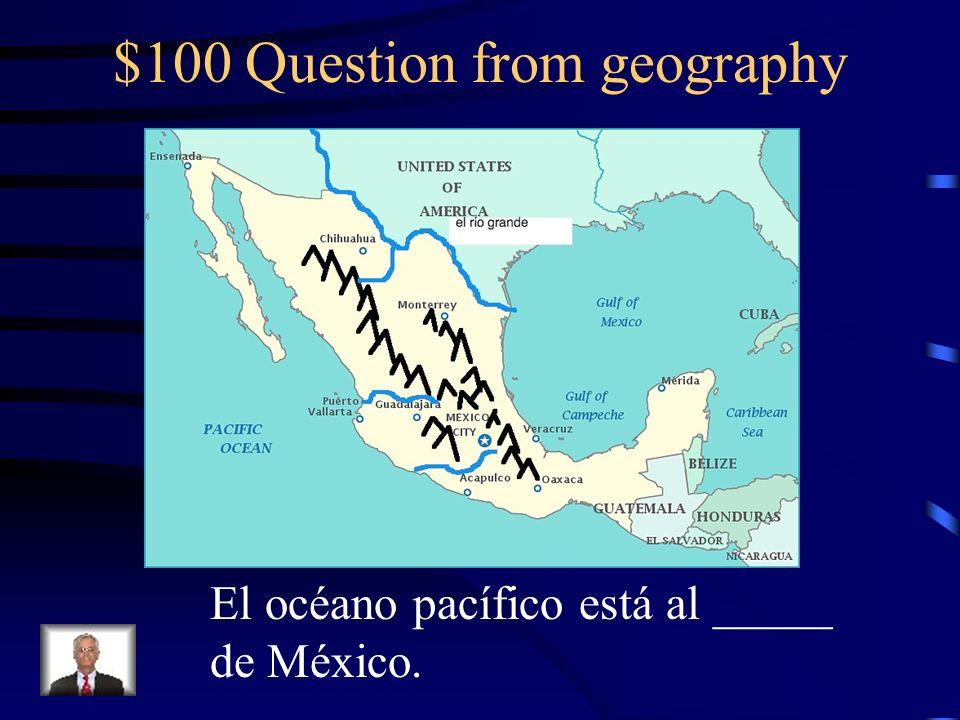 $500 Answer from IR María, José y Señora Goelz van al desierto