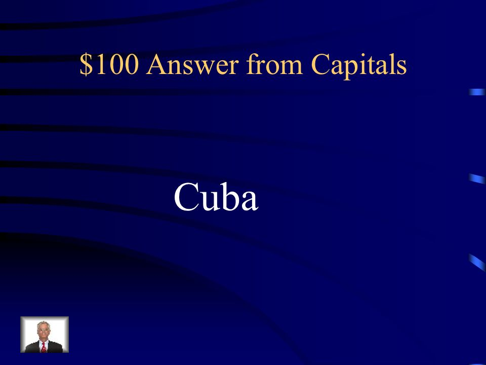 $100 Question from Capitals La Habana