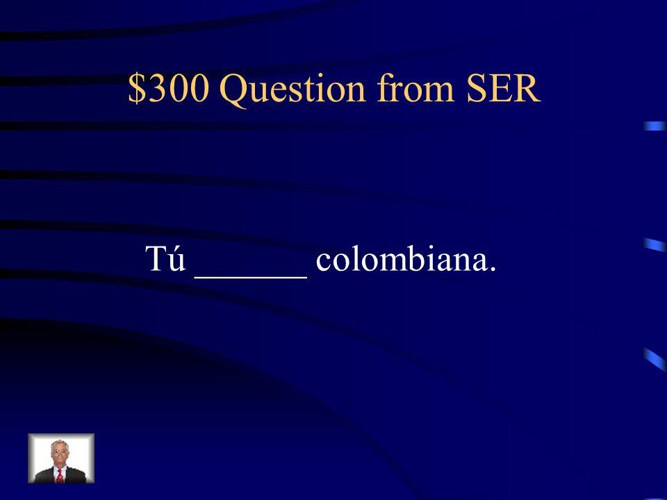 $200 Answer from SER Yo soy rubia y baja.
